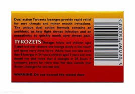 Tyrozets 24 lozenges ingredients